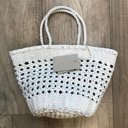 Myra Cannage Basket blanc - Dragon Bags