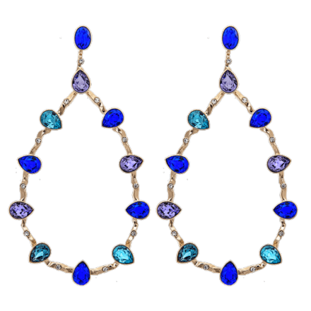 Annabelle earrings - Majestic blue - Lily & Rose