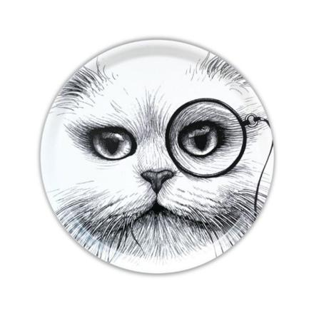 Plateau Cat Monocle White Small Circular - Rory Dobner