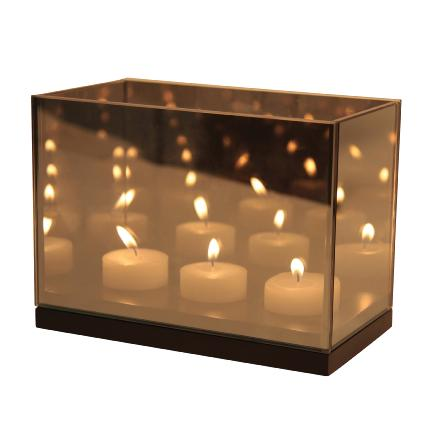 Tealight reflection black triple - Klevering
