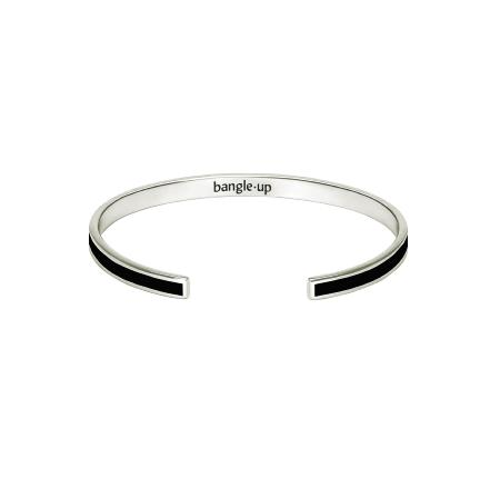 Bracelet bangle noir argenté - Bangle Up