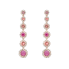 Celeste earrings - Peony pink - Lily & Rose