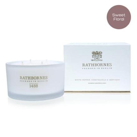 Luxury Candle Scented White Pepper - Rathbornes