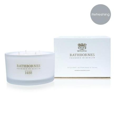 Luxury Candle Scented Mint & Thyme - Rathbornes