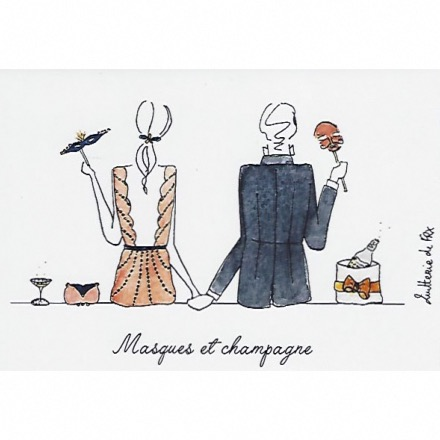 Masques et champagne