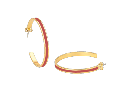 Boucles d'oreilles bangle rose blush - Bangle Up