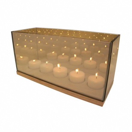 Tealight reflection gold cinq - Klevering
