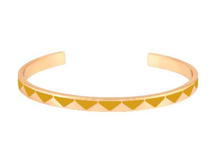 Bracelet Bollystud jaune safran - Bangle Up
