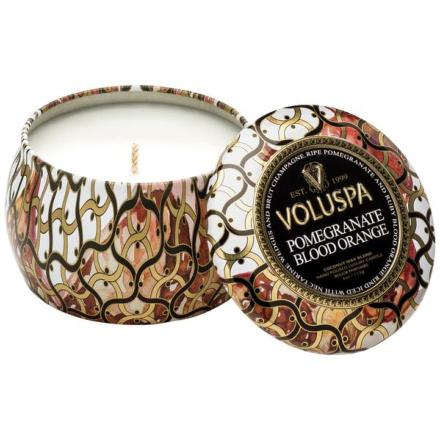 Mini Decorative Tin Pomegranate Blood Orange - Voluspa