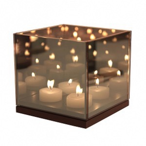 Tealight reflection black - Klevering