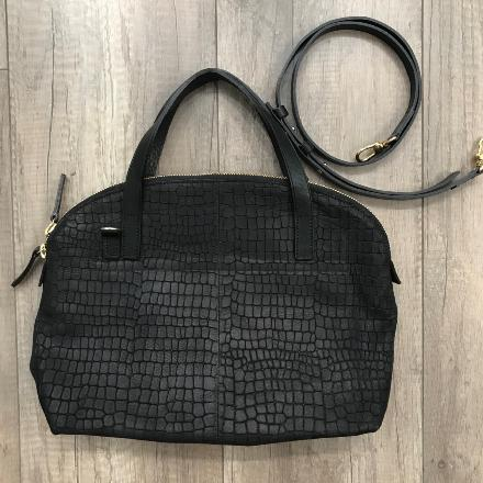 Sac Flammand XS Croco - Black