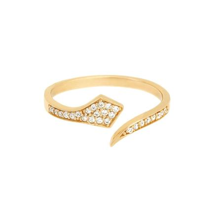 Cobra Pave Ring-YG 7 - Shashi Jewelry