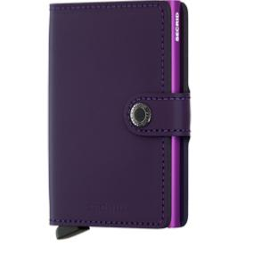 Mini Wallet mat Purple - Secrid