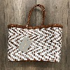 Cannage Small ZigZag White & Tan - Dragon Bags