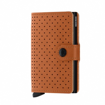 Mini Wallet Perforated COGNAC - Secrid